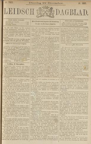 Leidsch Dagblad 1885-12-22