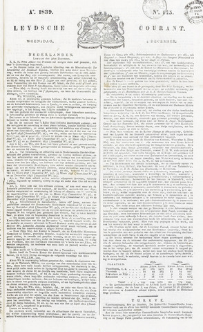 Leydse Courant 1839-12-04