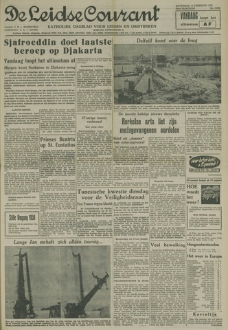 Leidse Courant 1958-02-15