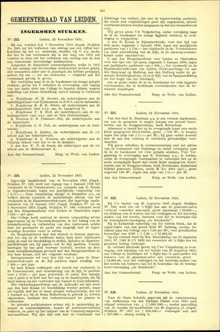 Handelingen van de Raad 1935-11-22