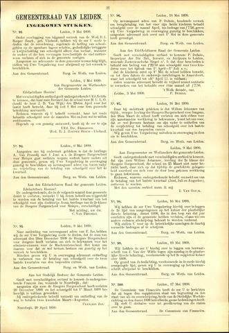 Handelingen van de Raad 1899-05-09