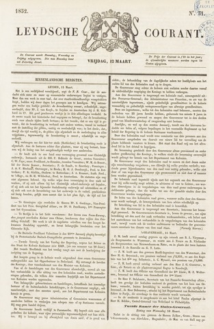 Leydse Courant 1852-03-12
