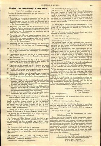 Handelingen van de Raad 1919-05-01