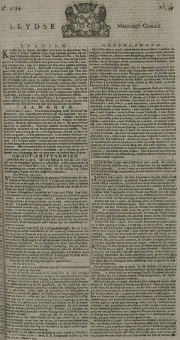 Leydse Courant 1734-04-19