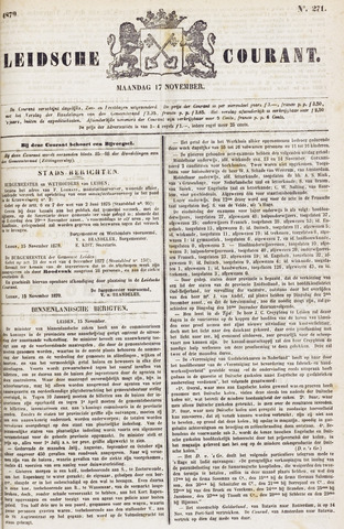 Leydse Courant 1879-11-17