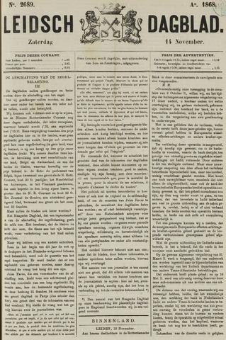 Leidsch Dagblad 1868-11-14