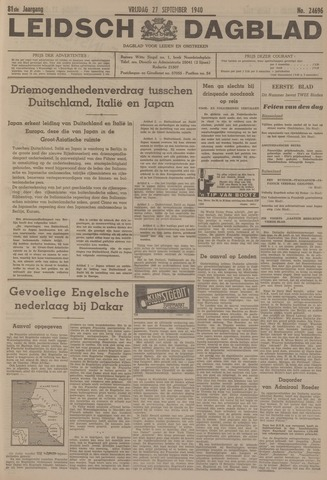 Leidsch Dagblad 1940-09-27