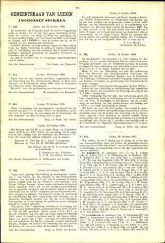 Handelingen van de Raad 1900-10-25