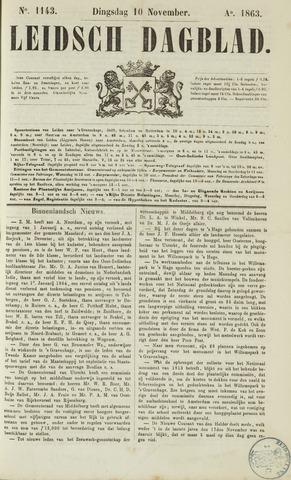 Leidsch Dagblad 1863-11-10