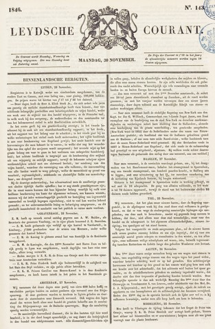 Leydse Courant 1846-11-30