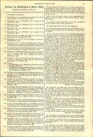 Handelingen van de Raad 1916-03-02