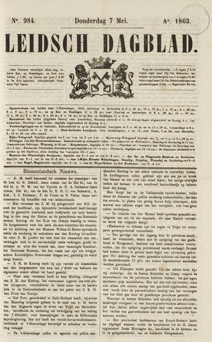 Leidsch Dagblad 1863-05-07