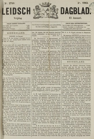 Leidsch Dagblad 1869-01-15