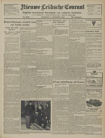 Nieuwe Leidsche Courant 1938-11-02