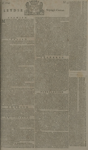 Leydse Courant 1743-03-22
