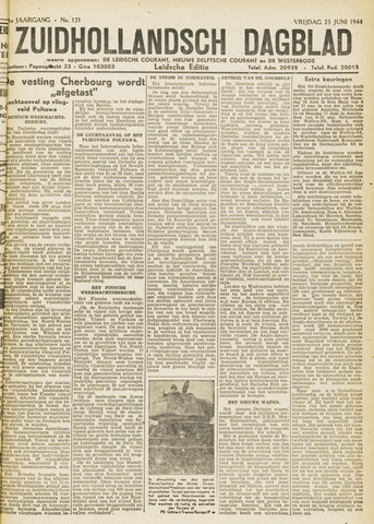 Zuidhollandsch Dagblad 1944-06-23