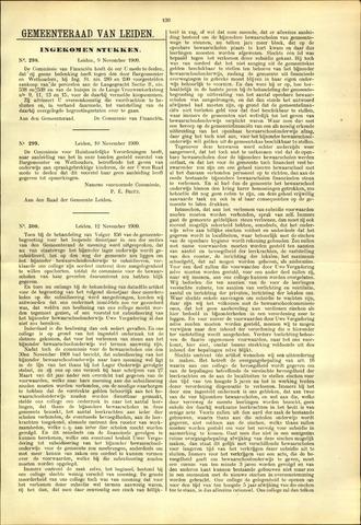 Handelingen van de Raad 1909-11-09