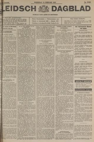 Leidsch Dagblad 1933-02-15