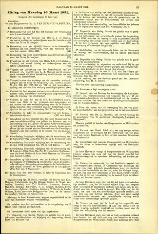 Handelingen van de Raad 1931-03-16
