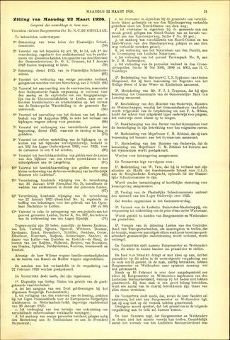 Handelingen van de Raad 1926-03-22