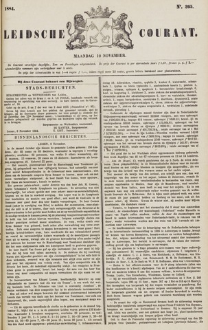Leydse Courant 1884-11-10