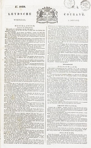 Leydse Courant 1839-01-09