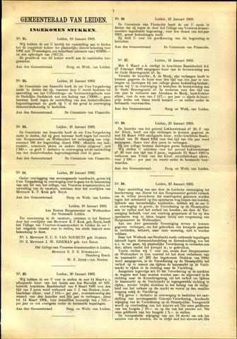 Handelingen van de Raad 1903-01-19