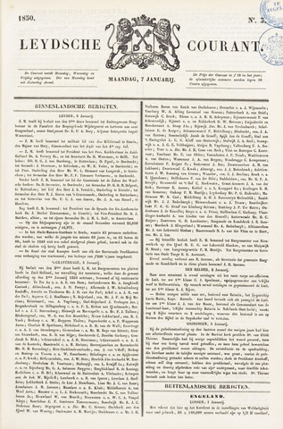 Leydse Courant 1850-01-07