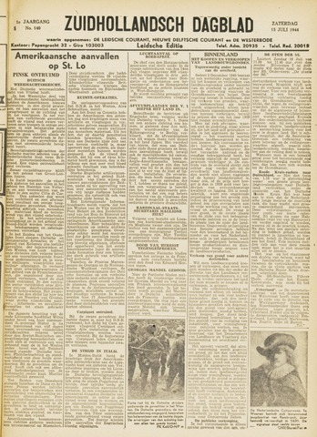 Zuidhollandsch Dagblad 1944-07-15