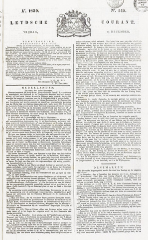 Leydse Courant 1839-12-13
