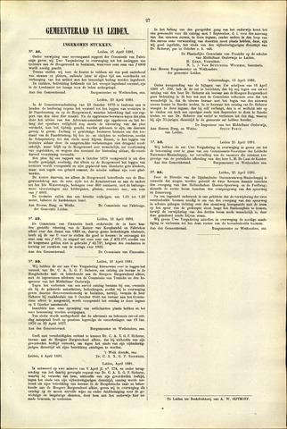Handelingen van de Raad 1881-04-21