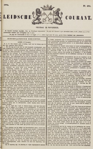 Leydse Courant 1884-11-28