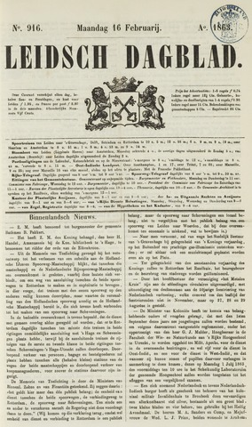 Leidsch Dagblad 1863-02-16