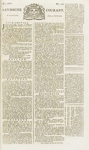 Leydse Courant 1826-10-25