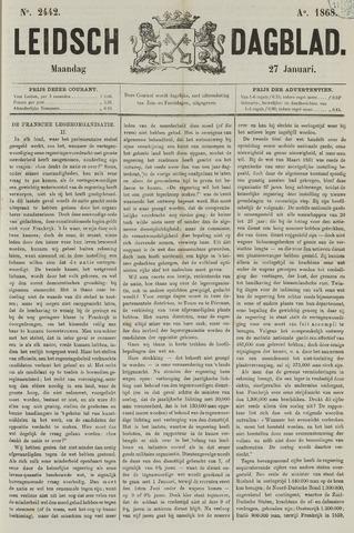 Leidsch Dagblad 1868-01-27
