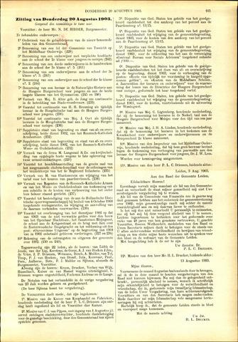 Handelingen van de Raad 1903-08-20