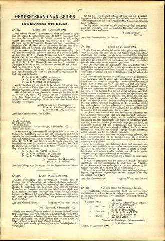Handelingen van de Raad 1902-12-04