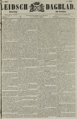 Leidsch Dagblad 1870-10-22