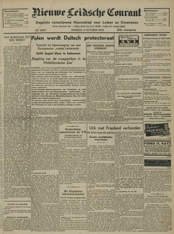 Nieuwe Leidsche Courant 1939-10-03
