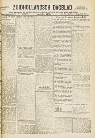 Zuidhollandsch Dagblad 1944-09-27
