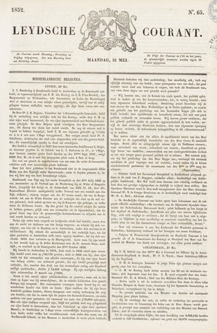 Leydse Courant 1852-05-31