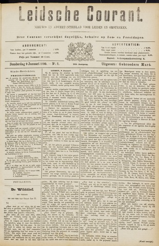 Leydse Courant 1890-01-09