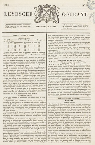 Leydse Courant 1855-04-30