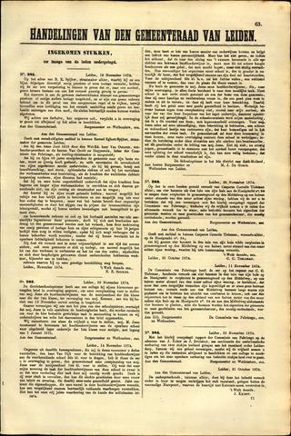 Handelingen van de Raad 1874-11-19