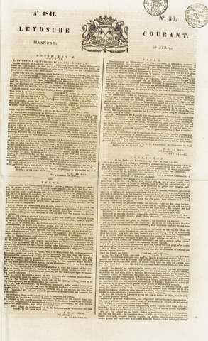 Leydse Courant 1841-04-26