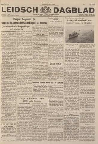 Leidsch Dagblad 1951-07-09