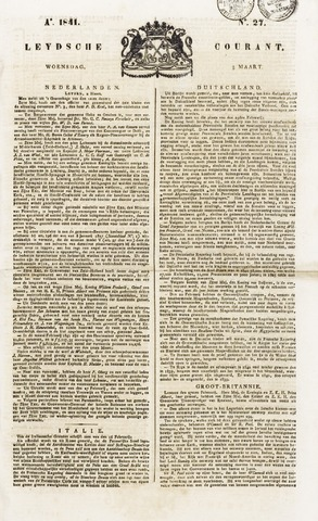 Leydse Courant 1841-03-03