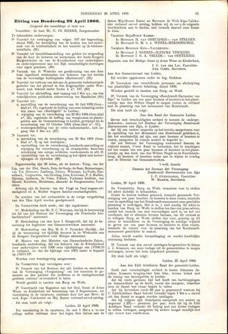 Handelingen van de Raad 1906-04-26