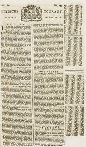 Leydse Courant 1825-11-30