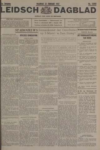 Leidsch Dagblad 1937-02-22